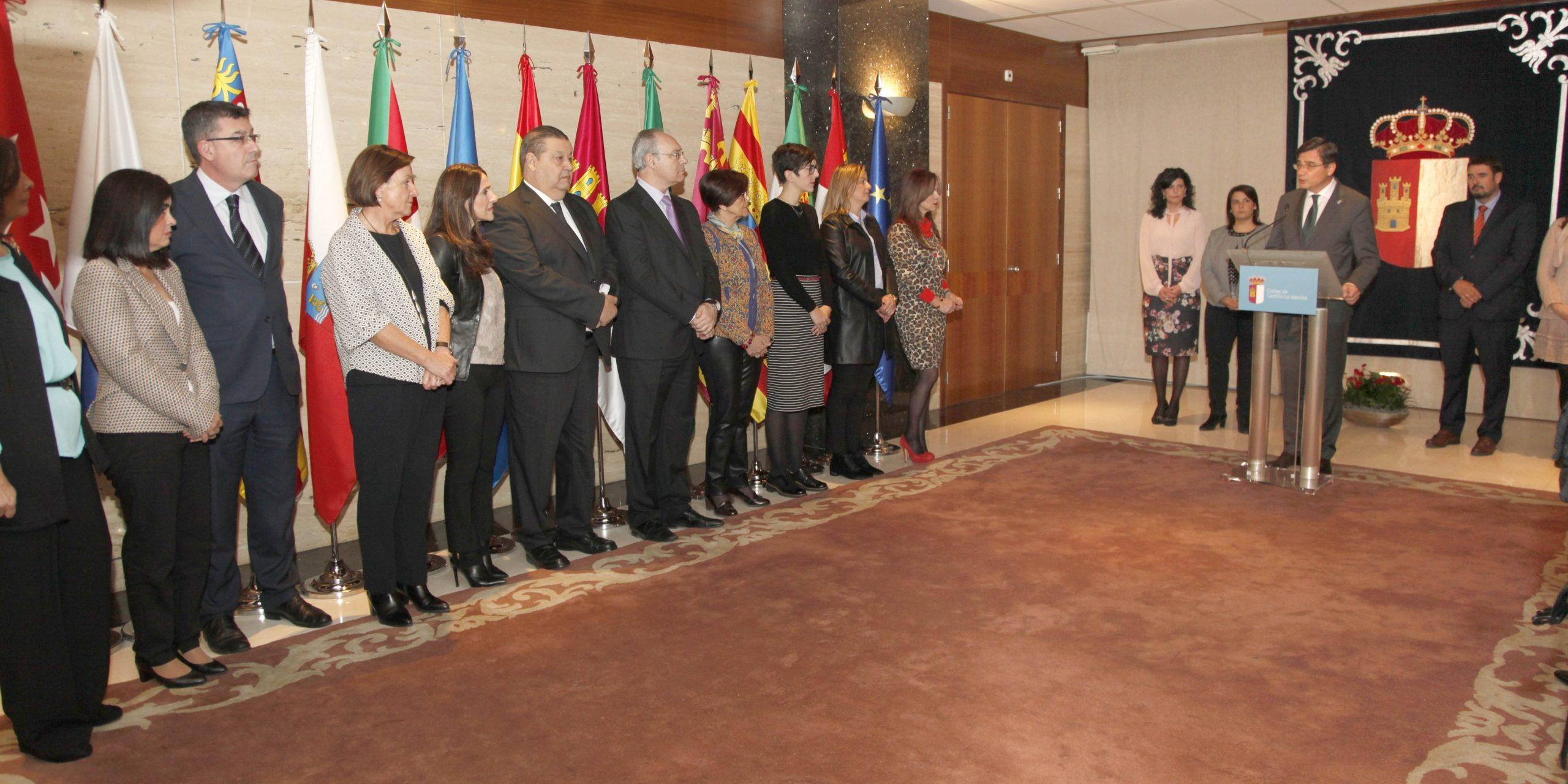 Pedro Sanjurjo con los presidentes y presidentas de las asambleas regionales