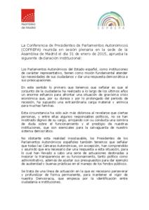2015 DECLARACIÓN DE MADRID