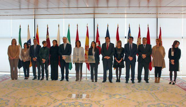 Fotografía de familia de la reunión de la Coprepa.