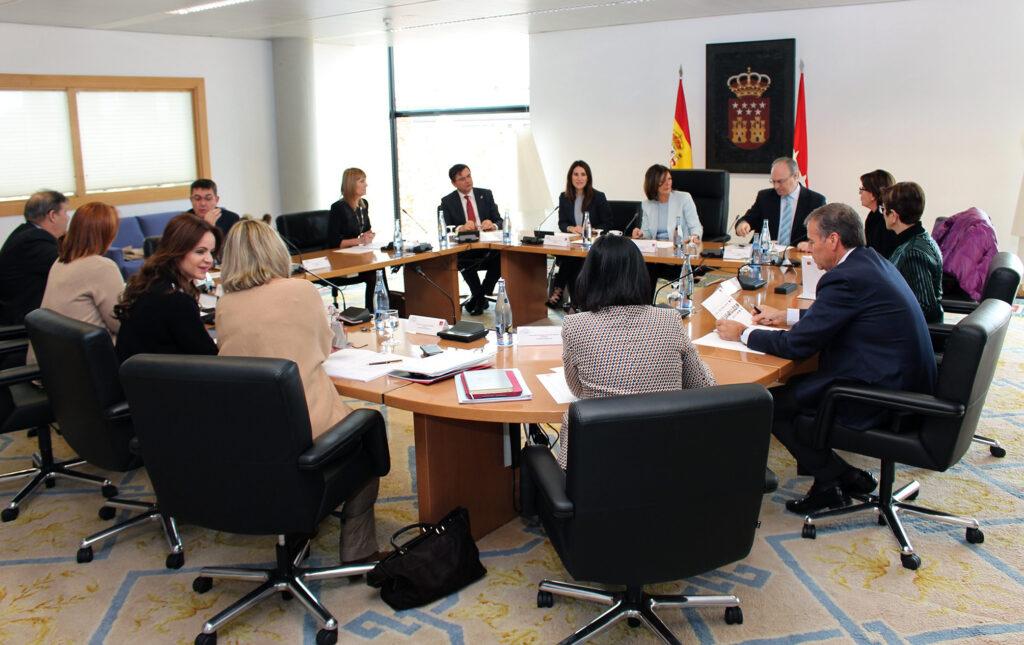 Reunión de la Coprepa en la Asamblea de Madrid