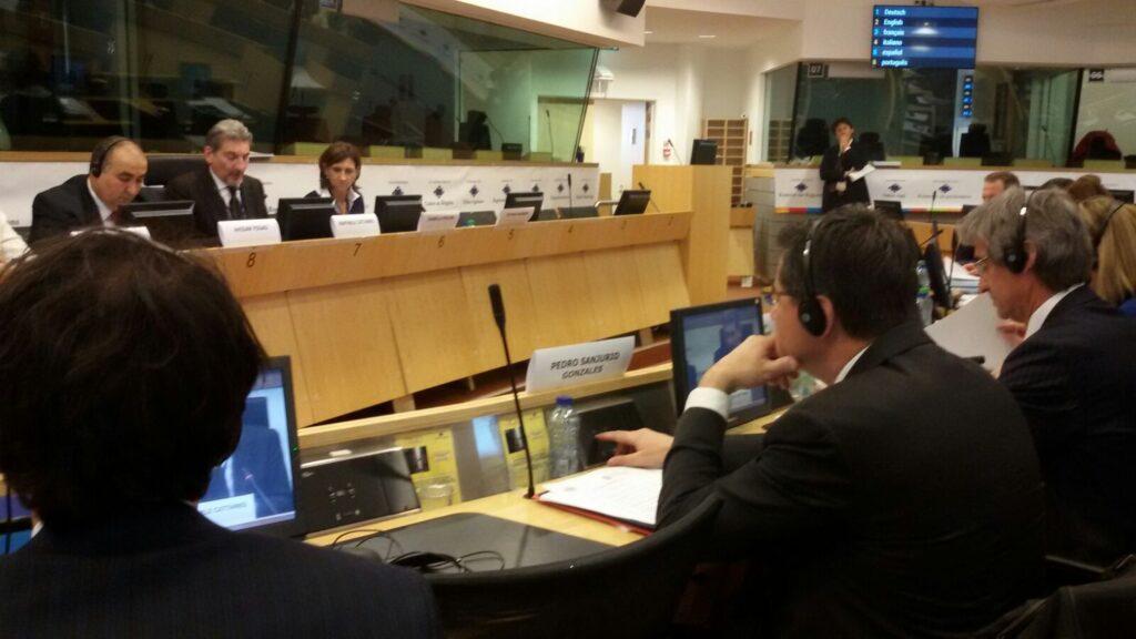 Sanjurjo, durante la Comisión Permanente de la CALRE